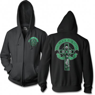 Dropkick Murphys - Drinking Skeleton Cross Zip-Up Hoodie