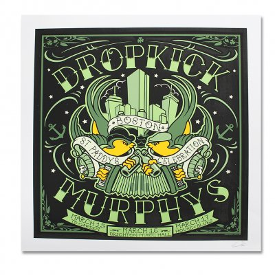 dropkick-murphys - 2013 St. Paddys Celebration Screenprint Poster