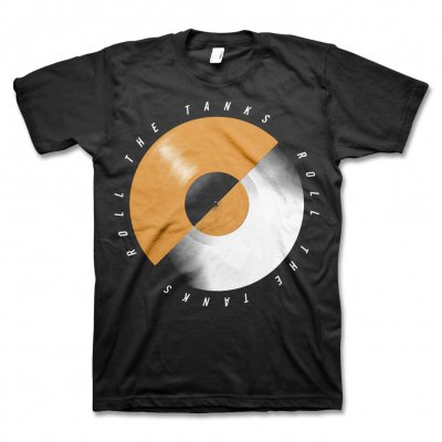 Roll The Tanks - Record T-Shirt (Black)