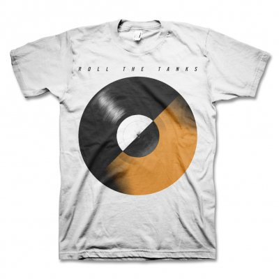 Roll The Tanks - Record T-Shirt (White)