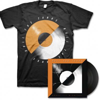 Roll The Tanks - Broke Til Midnight - LP (Black) & Record Tee (Black)
