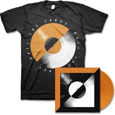 Roll The Tanks - Broke Til Midnight - LP (Orange) & Record Tee (Black)