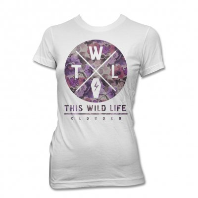 This Wild Life - Clouded Floral Tee - Women's