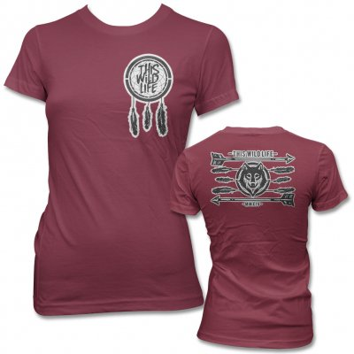 This Wild Life - Dreamcatcher Wolf Tee - Women's