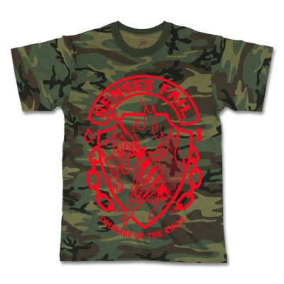 senses-fail - Courage Camo T-Shirt
