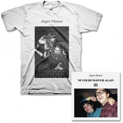 Joyce Manor - Never Hungover Again CD & Matt & Frank Tee