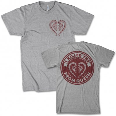i-killed-the-prom-queen - Snake Crest T-Shirt (Heather Grey)
