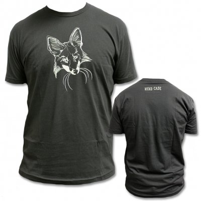 neko-case - Fox Face T-Shirt  (Black) - Mens & Womens
