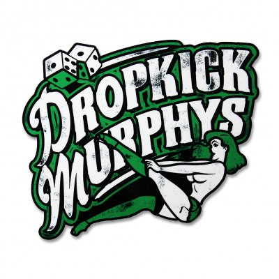 dropkick-murphys - Pin Up Girl - Die Cut Sticker