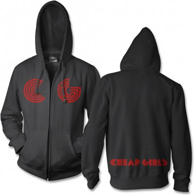 cheap-girls - Logo Zip Up Hoodie (Black)