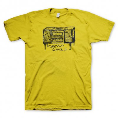 cheap-girls - Record Player T-Shirt (Yellow)