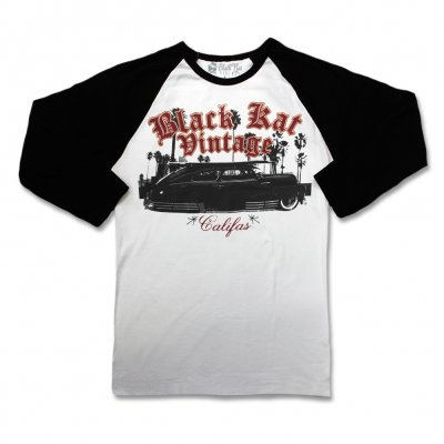 black-kat-kustoms - Califas Raglan Tee