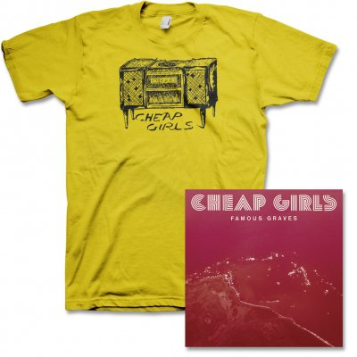 cheap-girls - Famous Graves CD & Record Player Tee