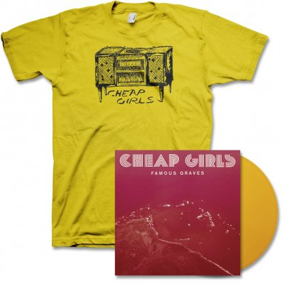 cheap-girls - Famous Graves LP (Yellow) & Record Player Tee