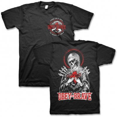 Obey The Brave - Skull Heart T-Shirt