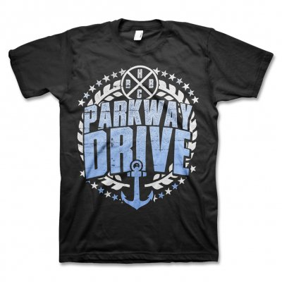 parkway-drive - Blue Anchor T-Shirt (Black)