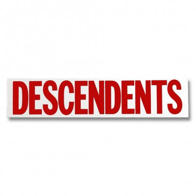 Descendents - DESC Logo Sticker - Red