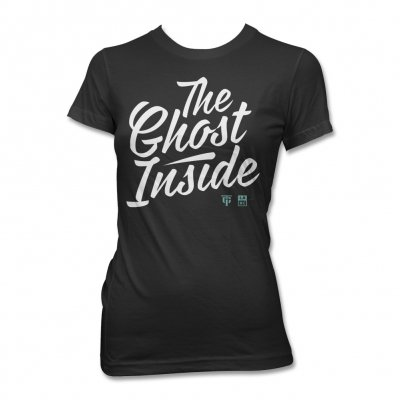 The Ghost Inside - TGI Cursive T-Shirt - Women's (Black)