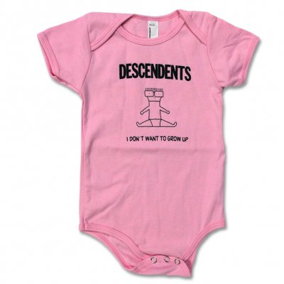 Descendents - I Don't Want To Grow Up Onesie (Pink)