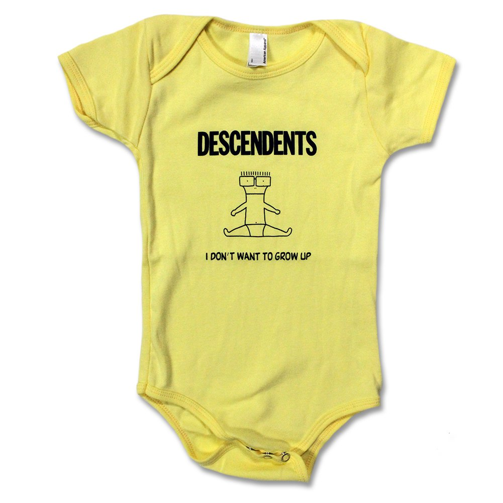 I Don't Want To Grow Up Onesie (Yellow)