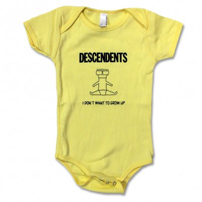 Descendents - I Don't Want To Grow Up Onesie (Yellow)