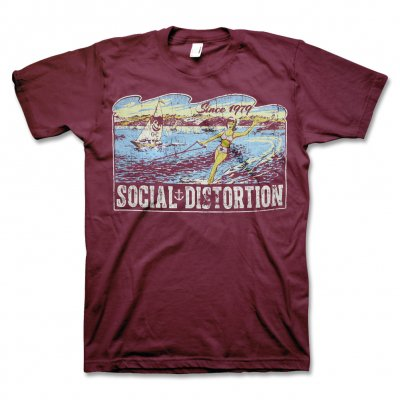 social-distortion - Waves T-Shirt (Burgundy)