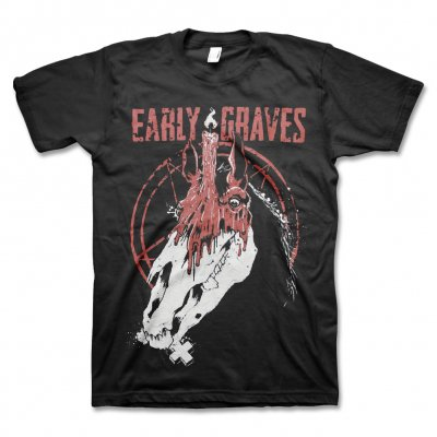 early-graves - Red Horse T-Shirt (Black)