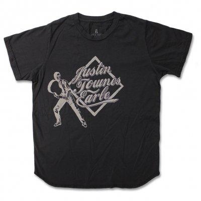justin-townes-earle - Guitar Baseball T-Shirt (Charcoal)