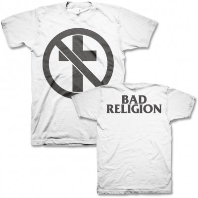 Bad Religion - Monochrome Crossbuster T-Shirt (White)