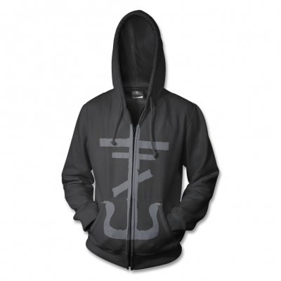 frank-iero - Cross Zip Up Sweatshirt (Black)