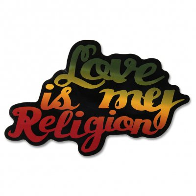 ziggy-marley - Love Is My Religion Rasta Colors - Sticker
