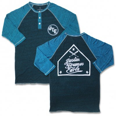 justin-townes-earle - Henley Raglan (Blue)