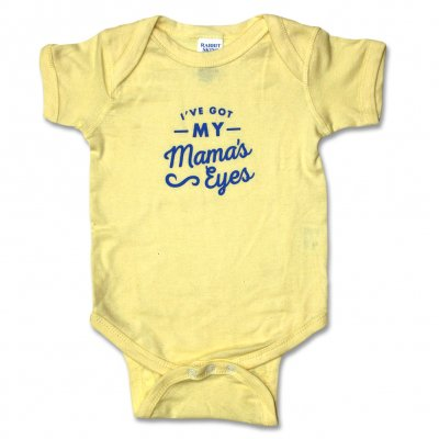 justin-townes-earle - My Mama's Eyes Onesie (Yellow)