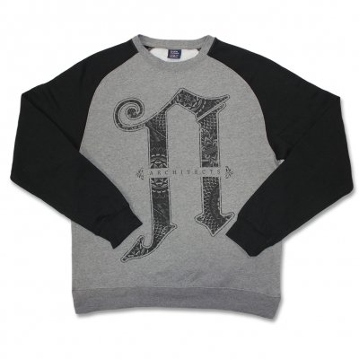 Architects - A Logo Crew Neck Sweatshirt (Black/Heather Grey)