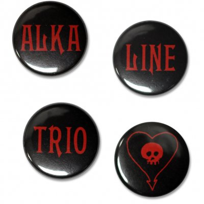 alkaline-trio - Past Lives Logo Button Set