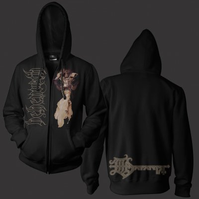 Angel Zip Up Sweatshirt (Black)