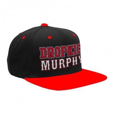 dropkick-murphys - Red And Black Snapback Hat