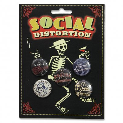 social-distortion - 5 Piece Button Set