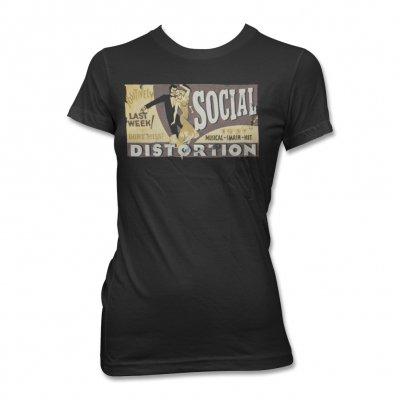 Social Distortion - Musical Hit T-Shirt - Women's (Black)