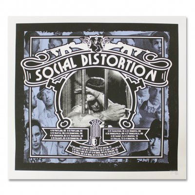 social-distortion - Behind Bars Spring 2012 Screen Printed Tour Poster