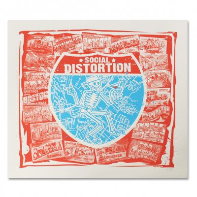 social-distortion - Greetings From... Screen Printed Tour Poster