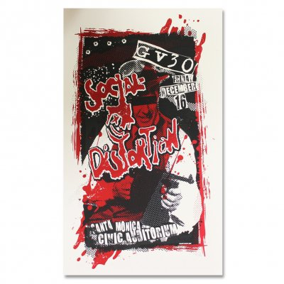 social-distortion - GV30 Santa Monica Civic Auditorium Screen Print