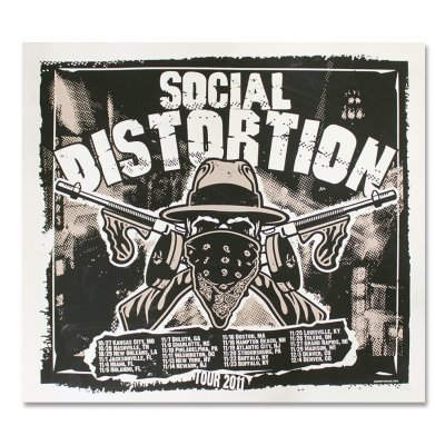 social-distortion - Tommy Gun 2011 Screen Printed Tour Poster
