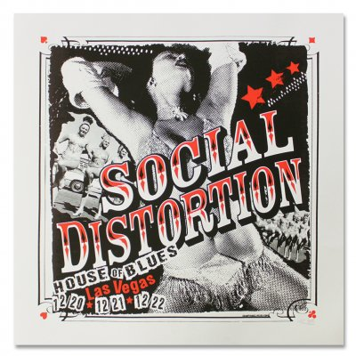 social-distortion - Las Vegas House Of Blues Screen Printed Poster
