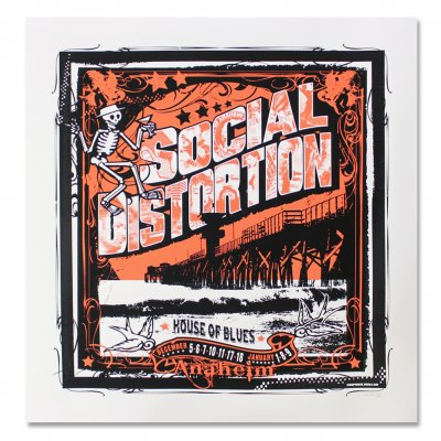 Social Distortion - House Of Blues Anaheim Screen Printed Poster