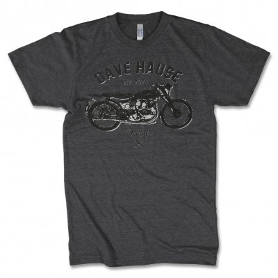 Dave Hause - Moto T-Shirt (Dark Heather)