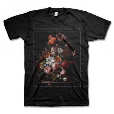 frank-iero - Red Flowers T-Shirt (Black)