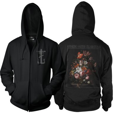 Frank Iero - Red Flowers Zip Up Sweatshirt (Black)