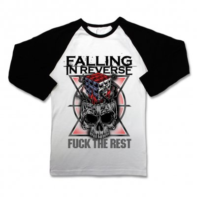 Falling In Reverse - Fuck The Rest Raglan Tee (Wht/Blk)
