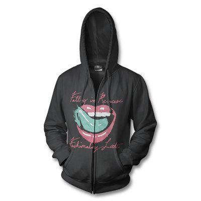 Falling In Reverse - Fashionably Late Album Lips Zip-up (Black)